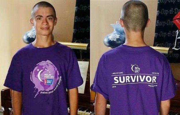 16-latek wyrzucony z lekcji za t-shirt informujący o jego walce z rakiem