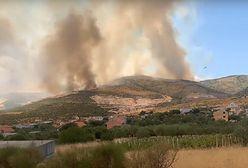 Chorwacja. Ogromny pożar w pobliżu Trogiru. Spłonęły setki hektarów ziemi