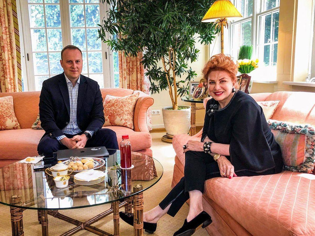Marcin Makowski (WP) podczas wywiadu z ambasador USA w Warszawie Georgette Mosbacher