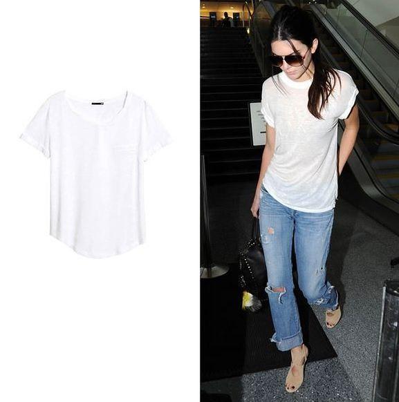 Biały t-shirt z bawełny