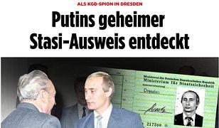 Legitymacja Władimira Putina opublikowana przez Bild