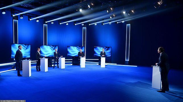 W debacie wzięli udział przedstawiciele pięciu komitetów wyborczych