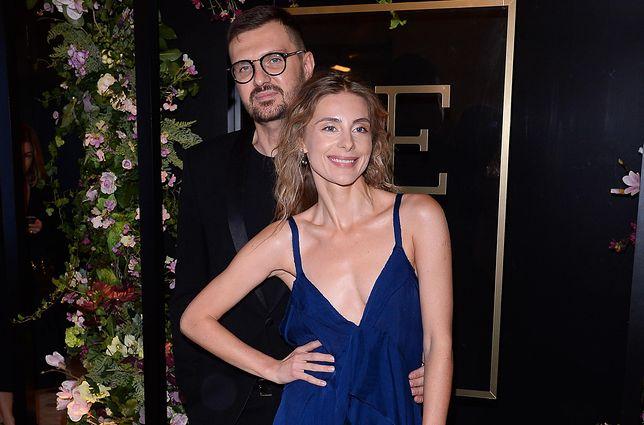 Katarzyna Zawadzka i Maciej Zień na otwarciu luksusowego butiku