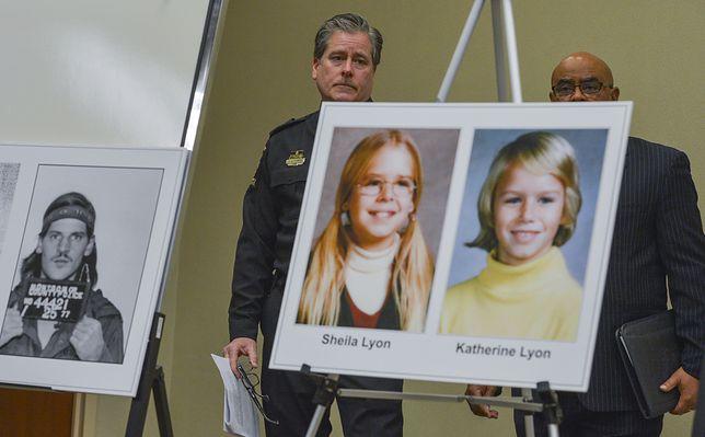 Zdjęcie wykonane podczas konferencji prasowej poświęconej wznowionemu śledztwu w sprawie zaginięcia sióstr Lyon. Prawda okazała się przerażająca.