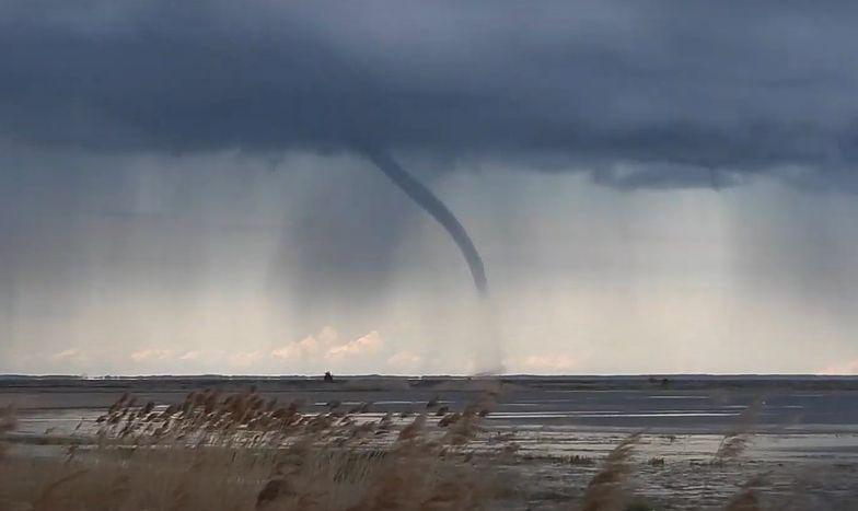 Tornado w Trójmieście? Niezwykły widok nad Zatoką Pucką