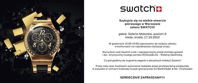 Pierwszy Swatch Store w Warszawie