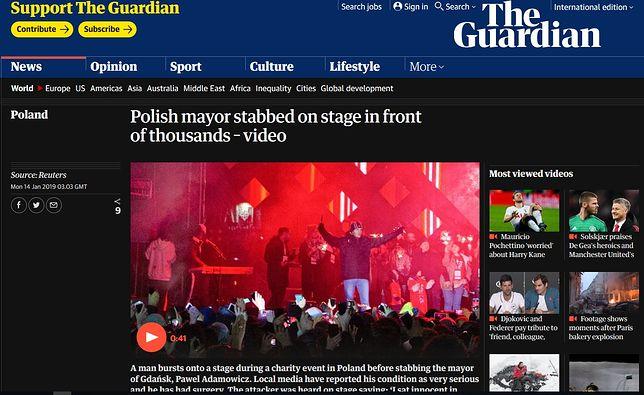 Brytyjski dziennik pokazał napastnika na scenie