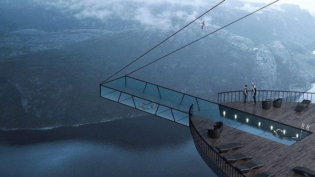 Hotel w klifie, czyli Norwegowie i ich oryginalna architektura
