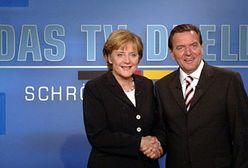 Schroeder zwycięzcą pojedynku z Merkel