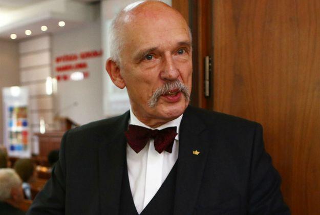 Janusz Korwin-Mikke: nieszczęście polega na tym, że Wałęsa zaprzeczał współpracy z SB