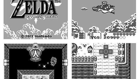 Czy Zelda: Skyward Sword na konsoli Game Boy wyglądałaby właśnie tak?