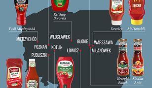 Jaki ketchup króluje w twoim regionie? Oto nasza infografika.