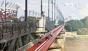 Kładka rowerowa na moście Poniatowskiego? (FUTUWAWA)
