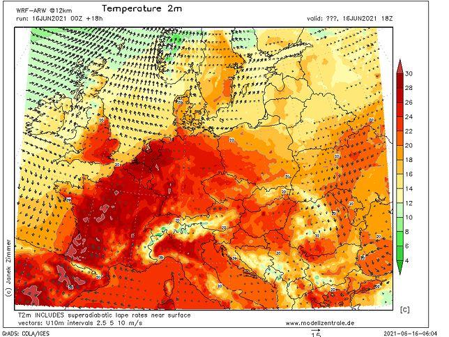 Europa w strefie upałów