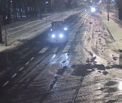 Ciągnik na drogach w Olsztynie