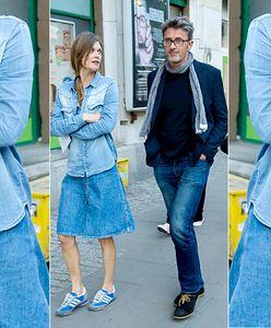 LOOK OF THE DAY: Małgosia Bela cała w jeansie
