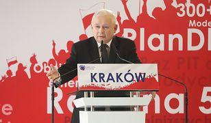 Jarosław Kaczyński na konwencji PiS w Krakowie