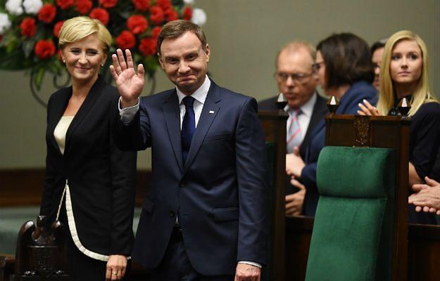 Prezydent Andrzej Duda z żoną Agatą