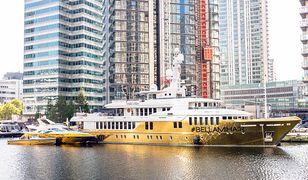 Luksusowy i złoty jacht. Jest wart 16 milionów funtów i stanął w Londynie