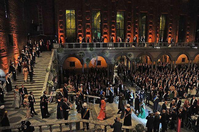 Sala balowa w Ratuszu sztokholmskim podczas wręczania Nagród Nobla