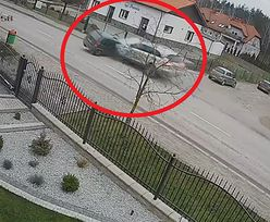 SUV wbił się w Corsę. Nagranie mrożące krew w żyłach