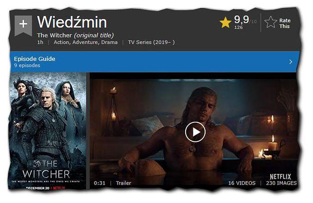"""Pierwsze oceny """"Wiedźmina"""" w internetowej bazie filmowej"""