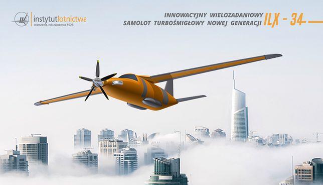 Wizualizacja komputerowa samolotu ILX-34