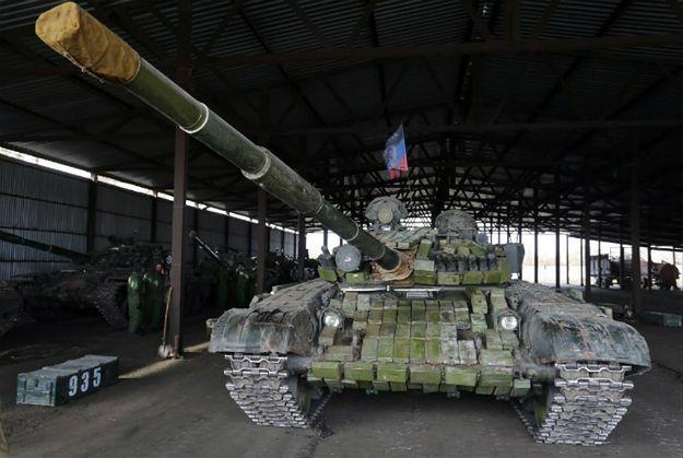 Rosyjski czołg T-72, z którego korzystają separatyści z Donbasu