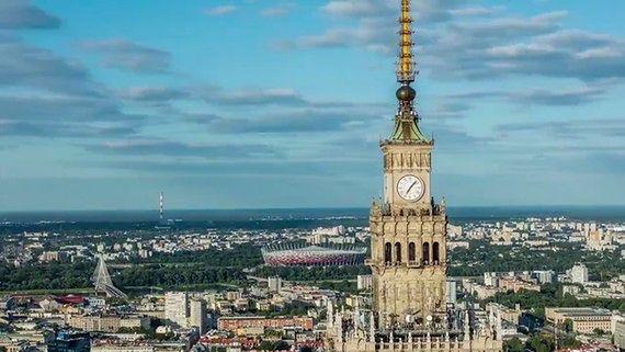 Panorama Warszawy z 237 metrów! Niesamowity film