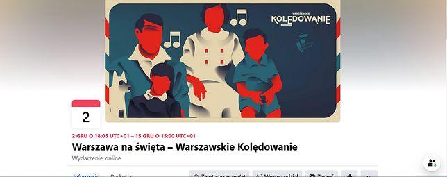 Warszawa. Plakat zachęcający do wspólnego kolędowania