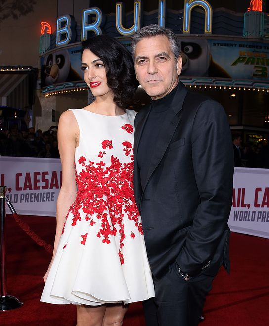 "February 1, 2016 Westwood, Ca. George Clooney and Amal Clooney ""Hail, Caesar!"" World Premiere held at the Regency Village Theatre ��Tammie Arroyo / AFF-USA.COM"
