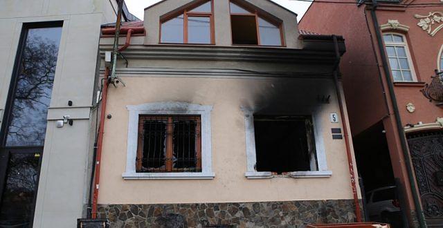 Podpalony budynek węgierskiego ośrodka