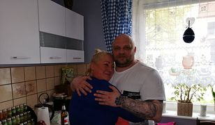 Arkadiusz Kraska z żoną po wyjściu z więzienia