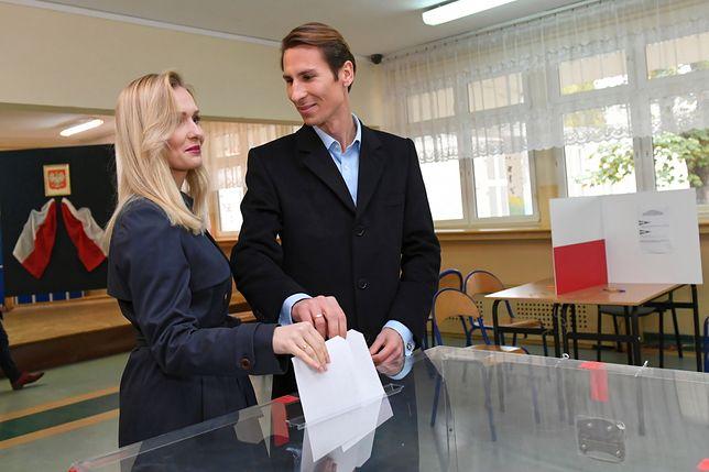 Kacper Płażyński z żoną