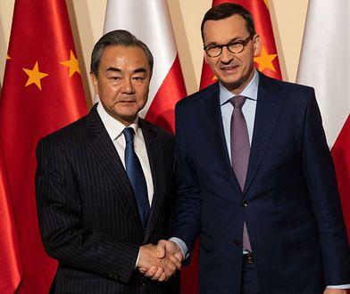 Premier Mateusz Morawiecki i minister spraw zagranicznych Chin