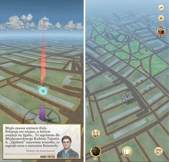 Mapa wygląda podobnie do tej w Pokemon Go, ale ma bardziej tajemniczy klimat