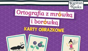 Karty obrazkowe Ortografia z mrówką i borówką (6-9 lat)