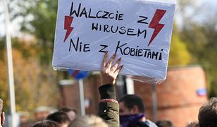 Warszawa, 24.10.2020. Protest przeciwko zaostrzeniu prawa aborcyjnego. (sko) PAP/Piotr Nowak
