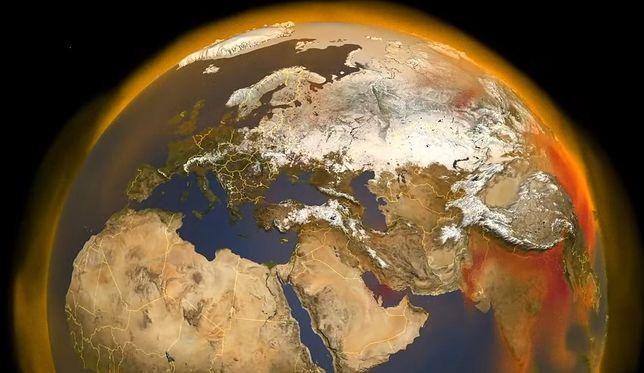 Mapa przedstawia obieg metanu na Ziemi