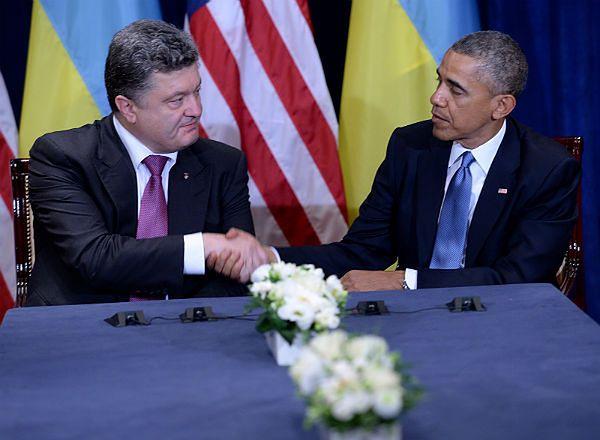 Barack Obama rozmawiał w Warszawie z Petro Poroszenko