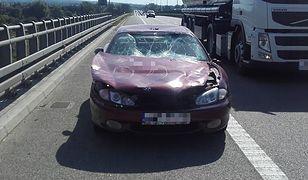 Samochód był totalnie zdemolowany
