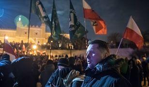 Przemysław Czarnek na demonstracji ONR z okazji Narodowego Dnia Pamięci Żołnierzy Wyklętych.