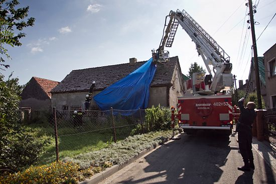 Uszkodzone domy na Opolszczyźnie