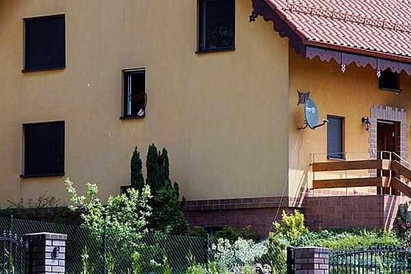 Dom jednorodzinnym w którym doszło do tragicznego pożaru.
