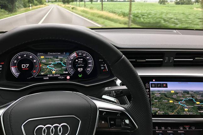Widok satelitarny dostępny był już w samochodach Audi. Na zdjęciu nowe Audi A6.