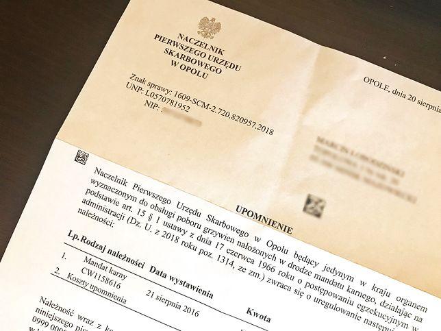 Urząd skarbowy w Opolu wysyła upomnienia na cały kraj.