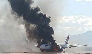 Boeing 777 zapalił się przed startem