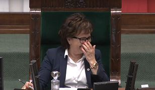 Sejm. Marszałek Elżbieta Witek znów ofiarą ataku śmiechu