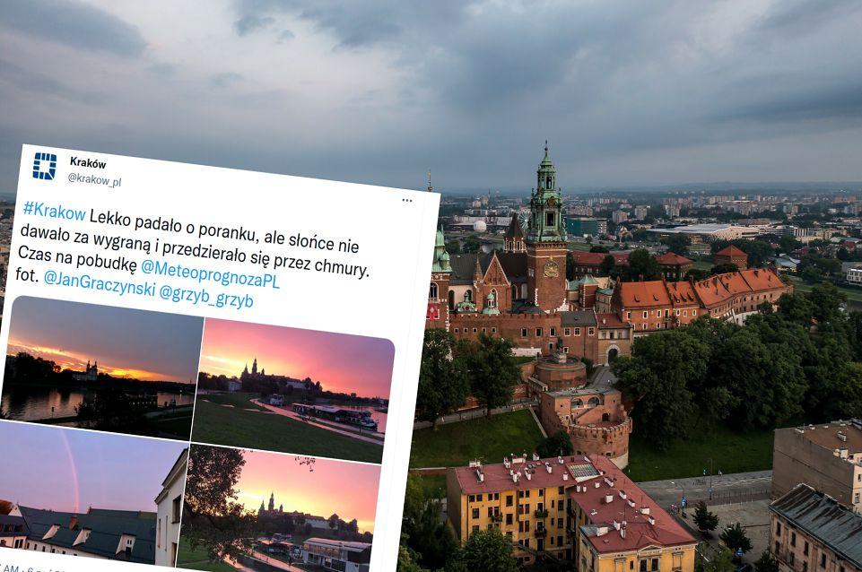 Niezwykły wschód słońca w Krakowie. Są zdjęcia (East News/Twitter)