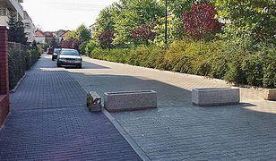 Warszawski humor: Zablokowali ulicę kwietnikami!